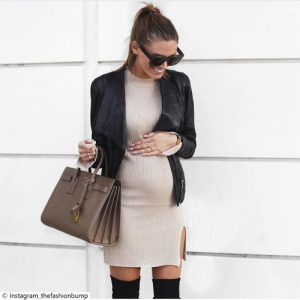 Little Post_Pregnancy Looks Lederjacke schwarz